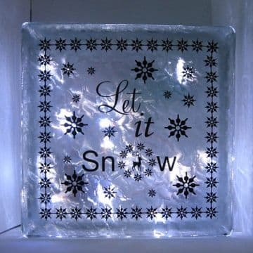 Let it Snow Vinyl for Glass Block Template