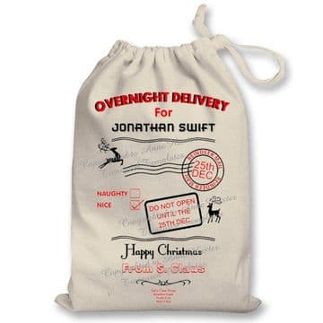 Overnight Delivery Santa Sack Template