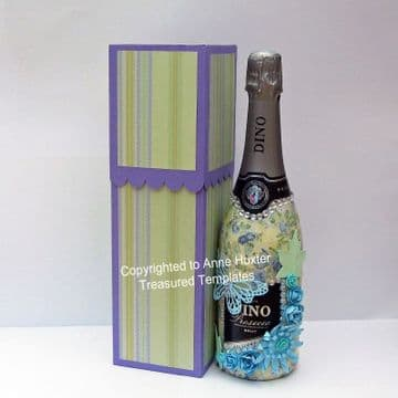 Bottle Box with Sliding Top Template