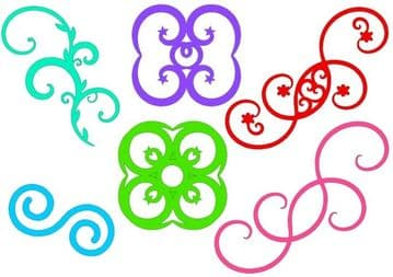 Flourishes & Fancy Toppers Template