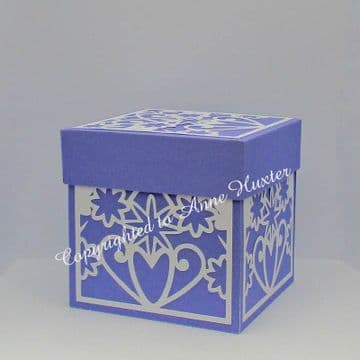 Flowers & Hearts Exploding Box Template