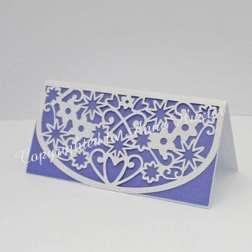 Flowers & Hearts Table Place Card Template