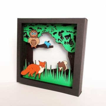 Forest Animals Picture Box Template