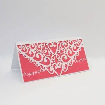 Swirl & Heart Table Place Card Template
