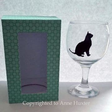 Wine Glass Box Cutting file for 5.5 inch tall glass