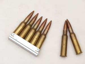 7.62mm Mosin-Nagant 5-round stripper clip with 5 inert rounds **OUT OF STOCK**