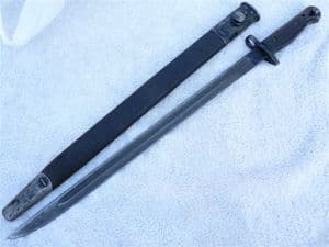 British Pattern 1907 Chapman bayonet with scabbard 1918 dated SOLD