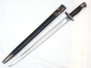 British Pattern 1907 Enfield made bayonet and scabbard 1915 dated  **SOLD**