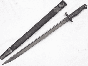British Pattern 1907 Sanderson made bayonet and scabbard 1917 dated  **SOLD**