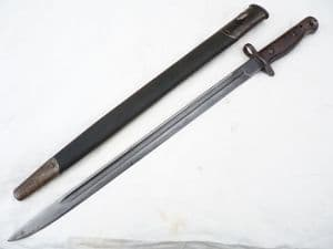 British Pattern 1907 Sandersons made bayonet and scabbard 1916 dated  **SOLD**