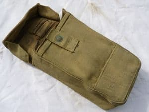British Pattern 1937 mk 1 webbing pouch 1942 dated