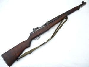 Deactivated American M1 Garand automatic rifle, 1944 issue, sliding cocking-handle  **SOLD**