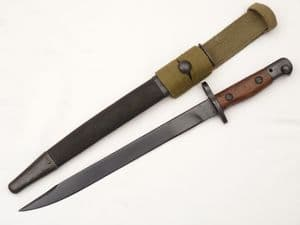 Indian SMLE Bayonet No.1 mk II* and frog, 1943 dated **SOLD**