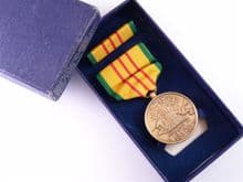 USA Vietnam Service Medal boxed set, with engraved initials  **SOLD**