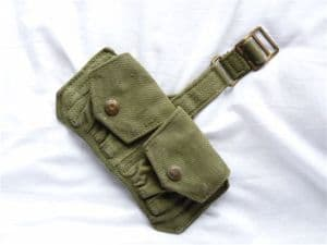 Webbing double ammunition pouch jungle green