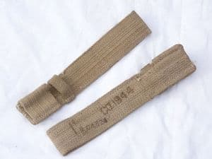 Webbing frog for No4 spike bayonet, khaki, 1944 dated, unissued, genuine **OUT OF STOCK**