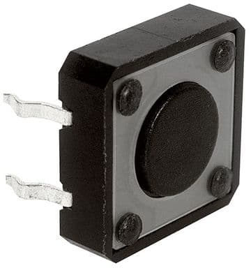 12mm x 12mm Tactile Switch 4.3mm Plunger Length (KR92) AB-TS-002