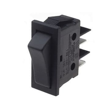 Black Rocker Switch 11mm x 30mm 16A SPST Latching On-Off (GU49) B111C1100000