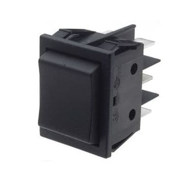Black Rocker Switch 22mm x 30mm Momentary Centre Off DPDT (N40KR) B41J41100000
