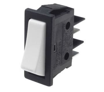 Black with White Rocker Switch 11mm x 30mm 16A SPST Latching On-Off (GU61) B111C12000000