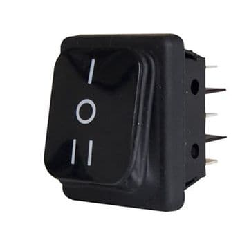 Dust & Splash Proof Rocker Switch DPDT Centre Off Latching 22mm x 30mm (N20CL) B4MASK19C1129000