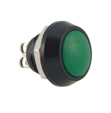 Green Anti-Vandal Push Switch 12mm IP65 (A42WY) AB-AV-1203