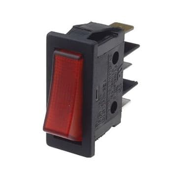 Red Illuminated Rocker Switch 11mm x 30mm On-Off SPST (GU51) B116C1G00000