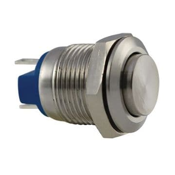 Stainless Steel 12mm IP67 Anti-Vandal Switch, Momentary (A08YT) AB-AV-1214