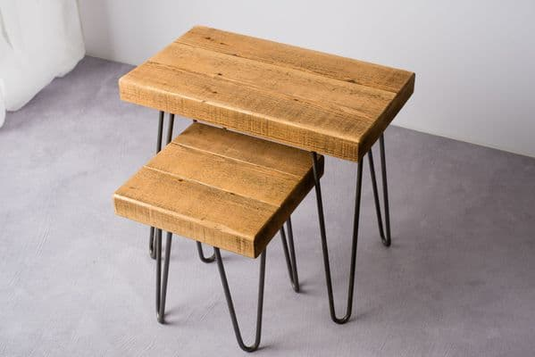 Hairpin Rustic Nest of Tables