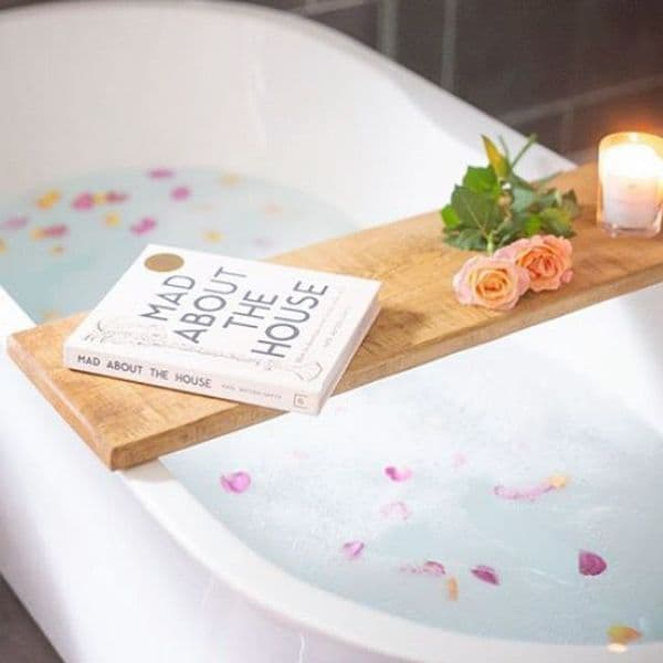 Rustic Wooden Bath Board