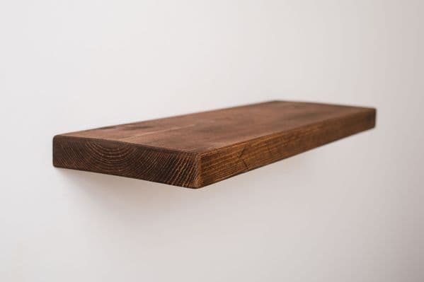 Rustic Wooden Floating Shelf - 20cm x 4cm