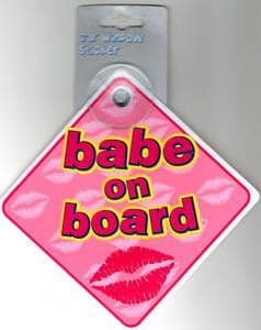 Babe On Board - Car Window Sign - Pink