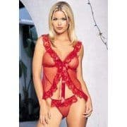 Babydoll and G-String (Leg Avenue 8814) - Red
