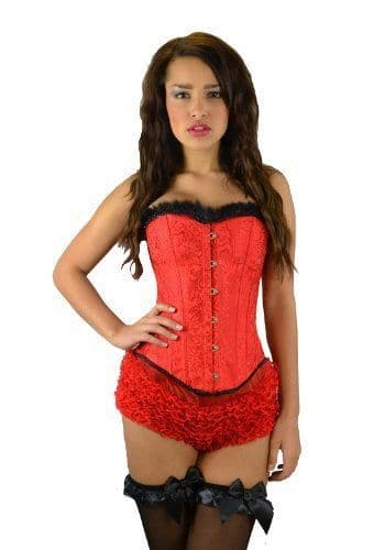 Corset and G-String (C60) - Red