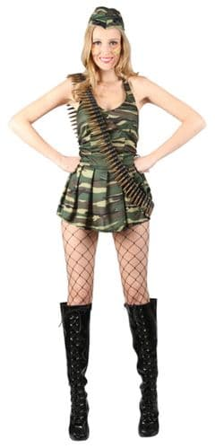 Cute Cadet - Sexy Soldier Fancy Dress (Wicked SF-0112)