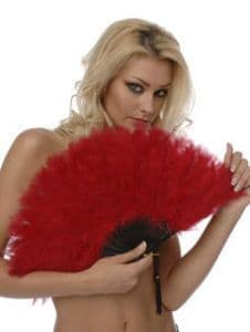 Fan - Sexy Marabou Feathers - Red