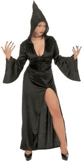 Gothic Temptress - Fancy Dress (Widmann 3118V) - Black