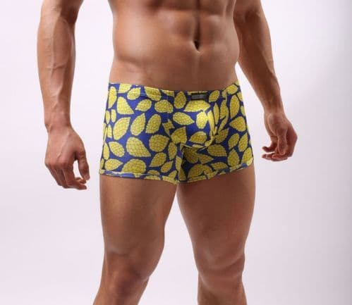 Men's Boxers (Cockcon) - Yellow/Blue