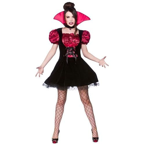 Midnight Vamp - Sexy Halloween Fancy Dress (Wicked HF-5077)