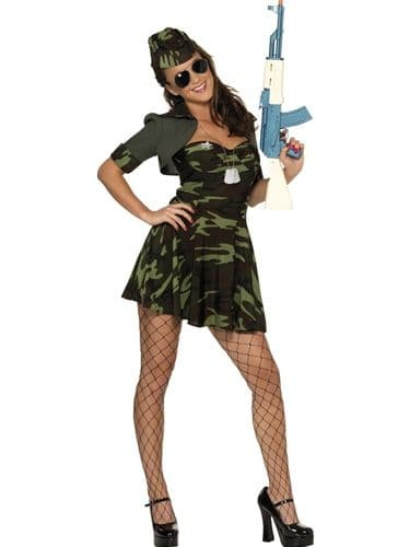 Military Babe - Sexy Fancy Dress (Smiffys 33078)