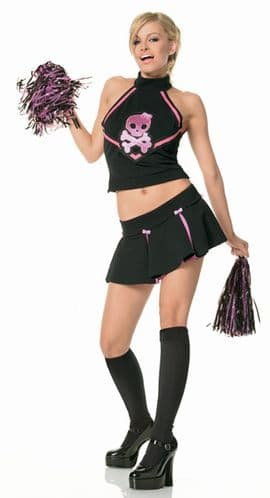 Morbid Cheerleader - Sexy Fancy Dress (Leg Avenue)