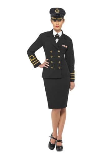 Navy Officer - Sexy Fancy Dress (Smiffys 38819)