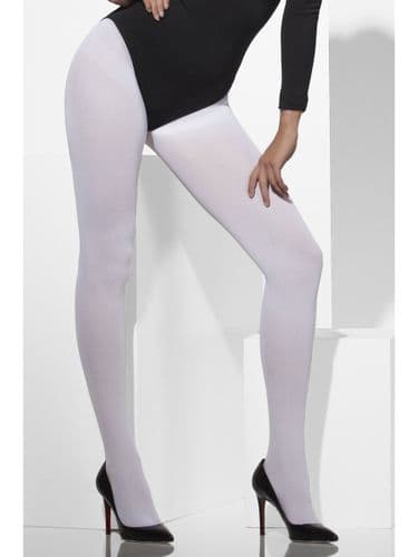 Opaque Tights - White (Fever 42739)