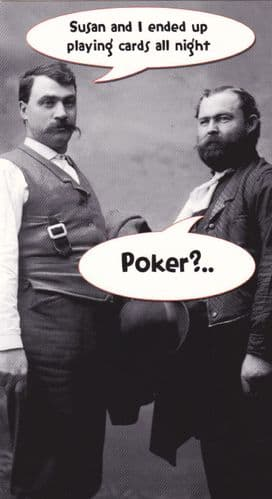 Poker - Naughty Greeting Card
