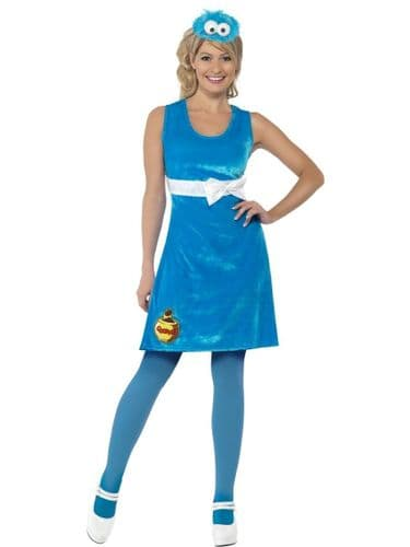 Sesame Street - Cookie Monster - Sexy Fancy Dress (Smiffys 38678)