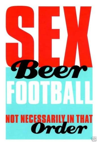 Sexy Beer - Naughty Greeting Card