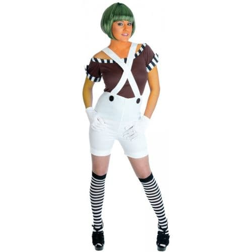 Sexy Factory Worker' Oompa Loompa' -  Fancy Dress (Fun Shack 2749)
