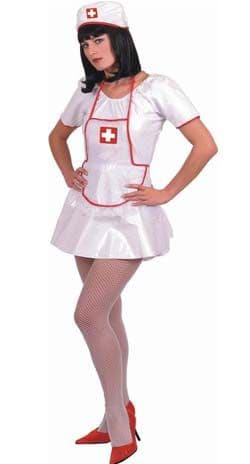 Sexy Nurse - PVC Fancy Dress Costume (Smiffys 21861) - Green Trim