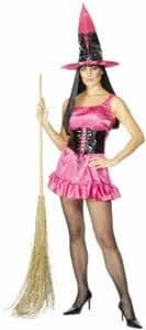 Sexy Witch - Halloween Fancy Dress - Pink (Smiffys 28697)