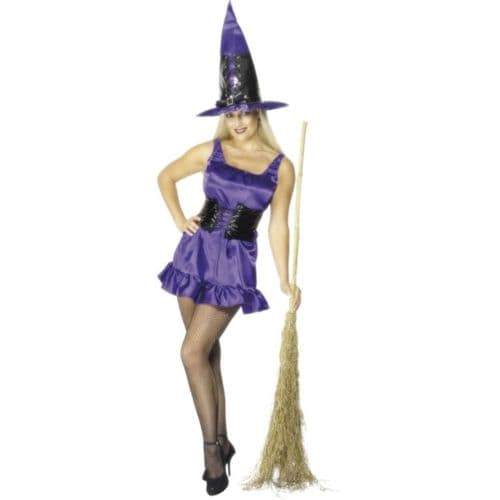 Sexy Witch - Halloween Fancy Dress - Purple (Smiffys 28696)